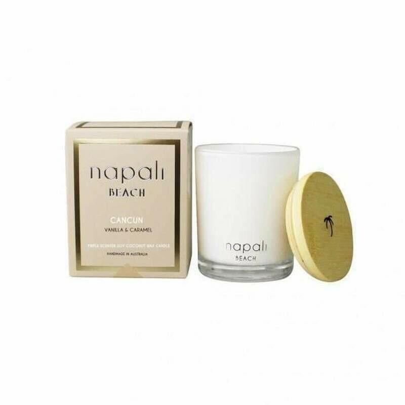 NAPALI BEACH CANCUN-Soy/Coconut Wax Candle-VANILLA/CARAMEL-400g