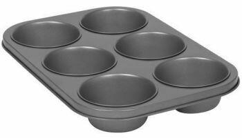PYREX PLATINUM-Texas Muffin Pan-6cup-Pan:32.5cm(L)/22.4cm(W)/4.2cm(D)