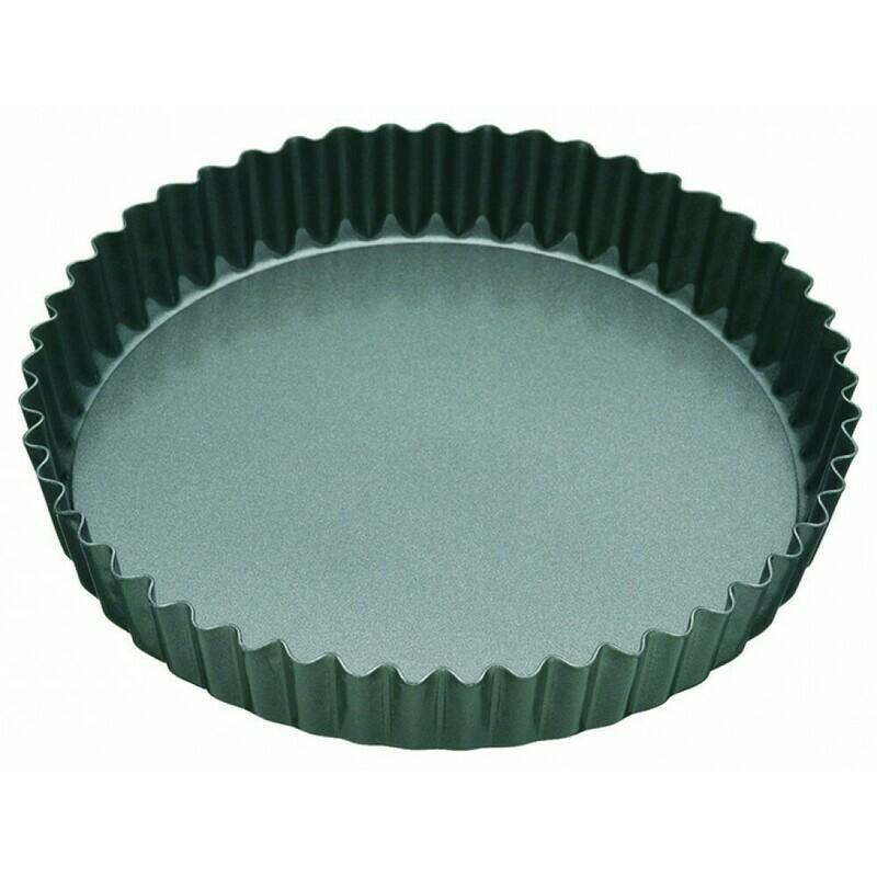 MASTERPRO- Non Stick Loose Base Fluted Round Quiche Pan 20cm(Diam)