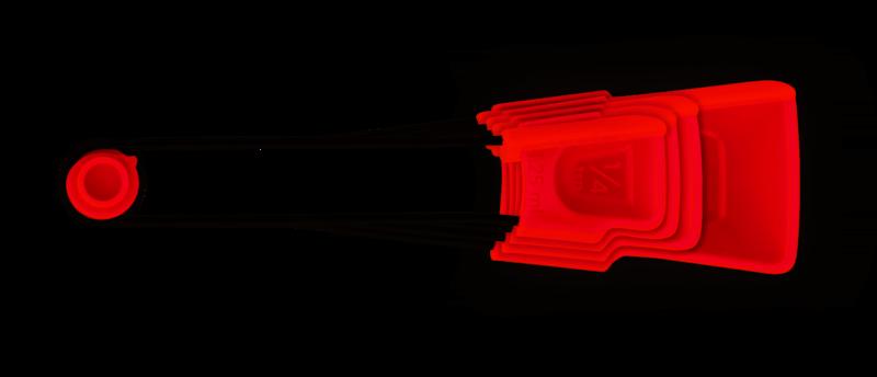 DREAMFARM - Levoons Set Of Measuring Spoons RED