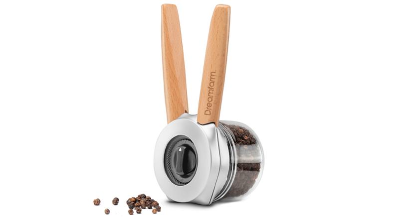 DREAMFARM - Ortwo-One-Handed Salt, Pepper Grinder Wood