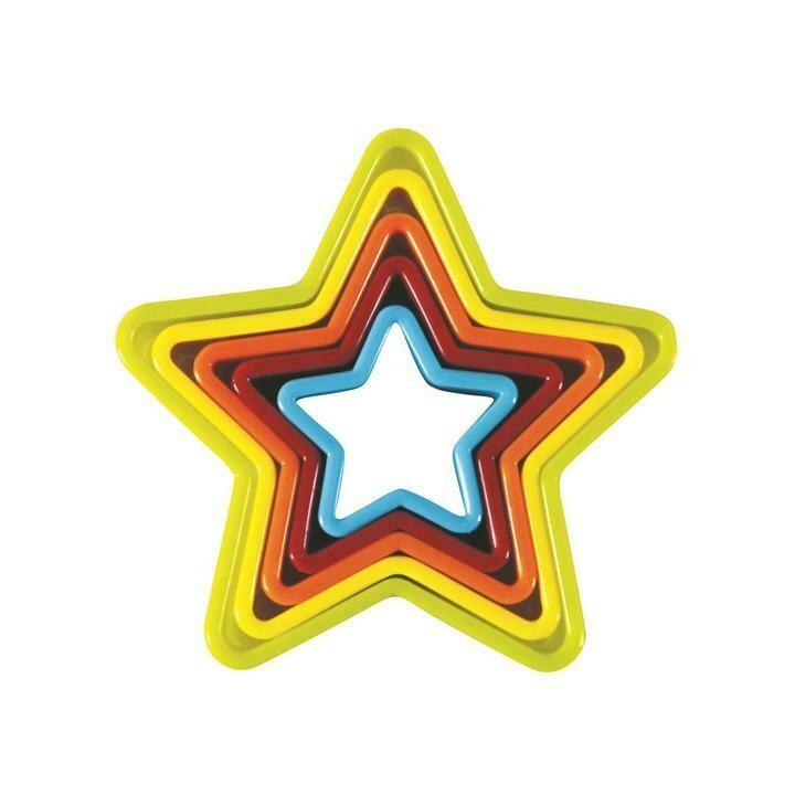 AVANTI - Star Cookie Cutters Set of 5 - Multi Coloured