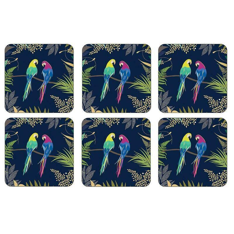 SARA MILLER LONDON - Parrot Coasters, Set of 6
