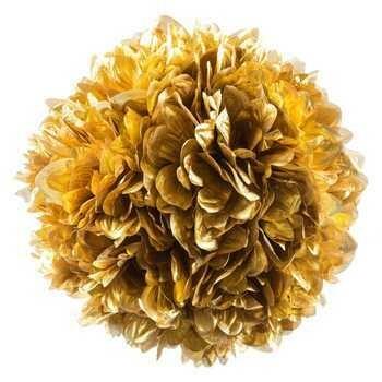 Plastic Gold Hanging Flower Ball