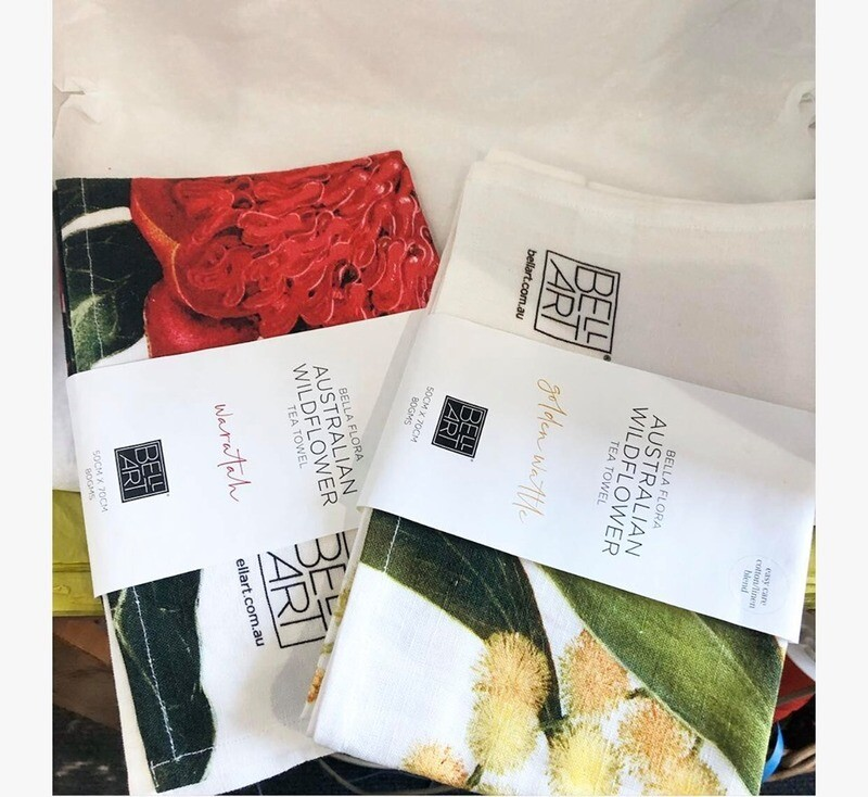 BELL ART - Bella Flora Tea Towels - Wattle