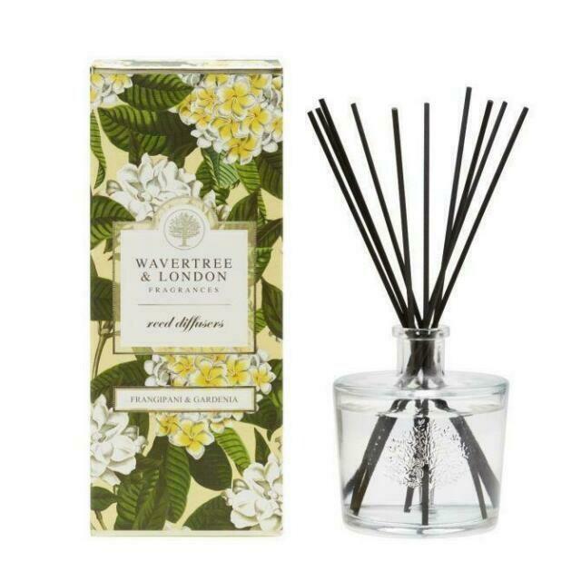 WAVERTREE&LONDON -Fragrance Diffuser-FRANGIPANI/GARDENIA-350ml
