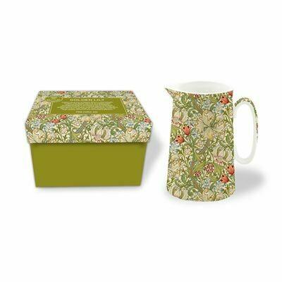 NOSTALGIC CERAMICS - Golden Lily Fine China Jug- Green