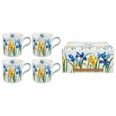 HERITAGE -  Fine Bone China Iris Mug 400ml Set of 4