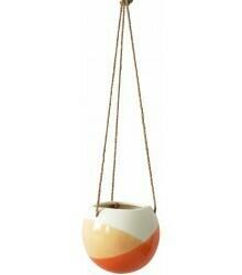 URBAN PRODUCTS - Skyla Hanging Planter Orange White 12