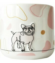 URBAN PRODUCTS - Linear Dog Planter Pink Sm 11cm