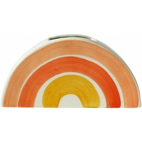 URBAN PRODUCTS - Skyla Rainbow Planter Orange White 10
