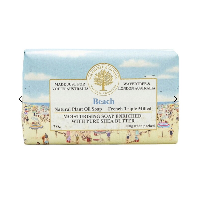 WAVERTREE&LONDON -SOAP (enriched w. pure shea butter)-BEACH 200g/7oz
