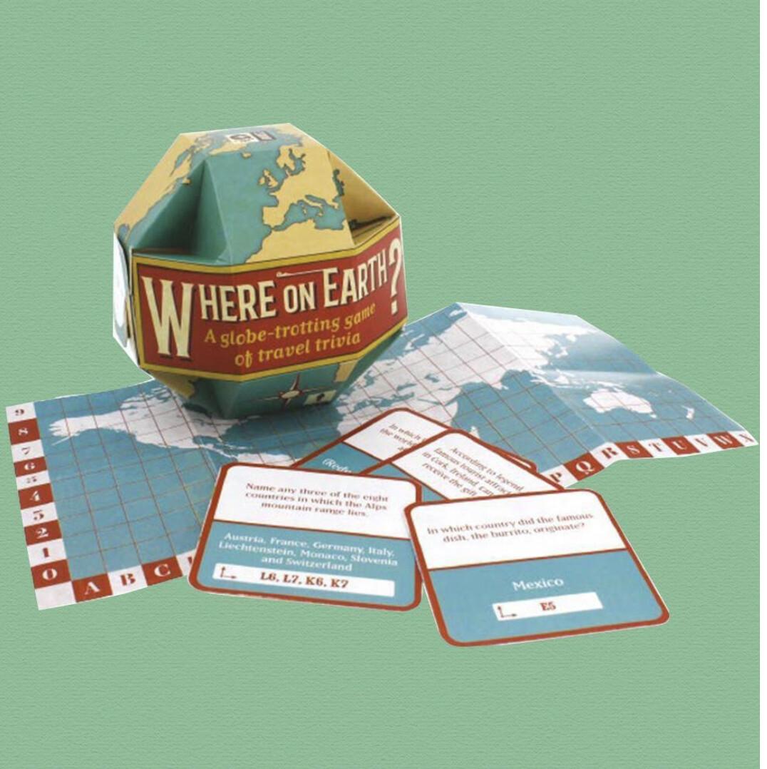 WHERE ON EARTH? TRAVEL TRIVIA GAME