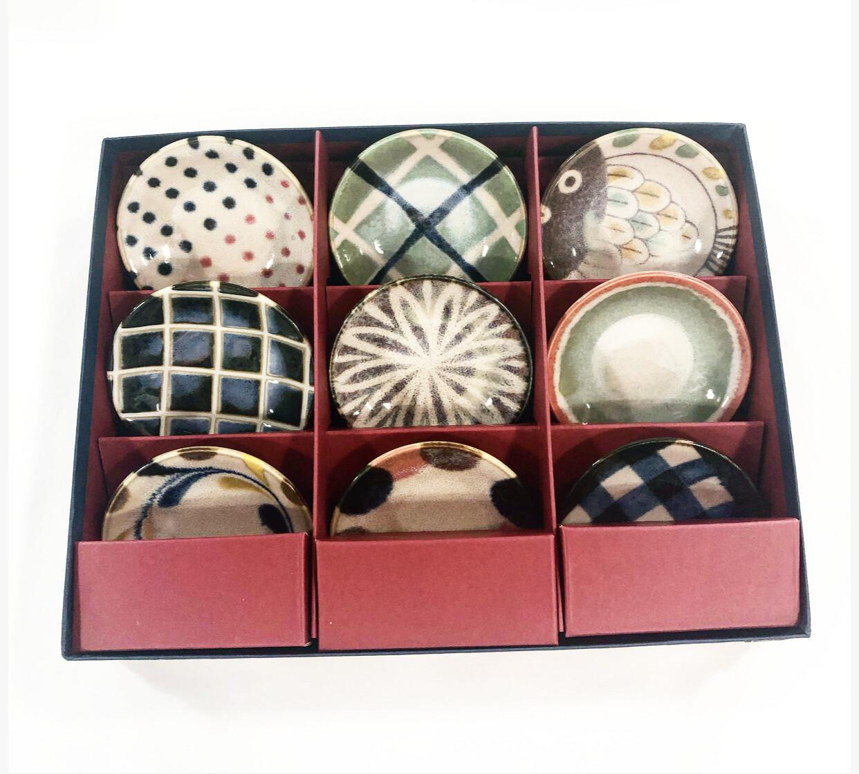 CONCEPT JAPAN  Brush color 9 dish set / dia 8.5cm
