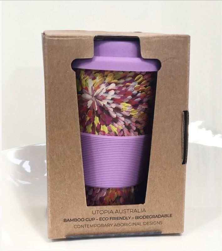 UTOPIA AUSTRALIA re-usable bamboo cup 14oz-Janelle Stockman