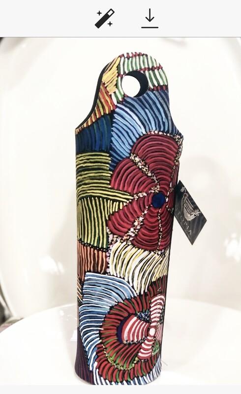 UTOPIA AUSTRALIA NeopreneWine Bottle Cooler-Josie Petyarre