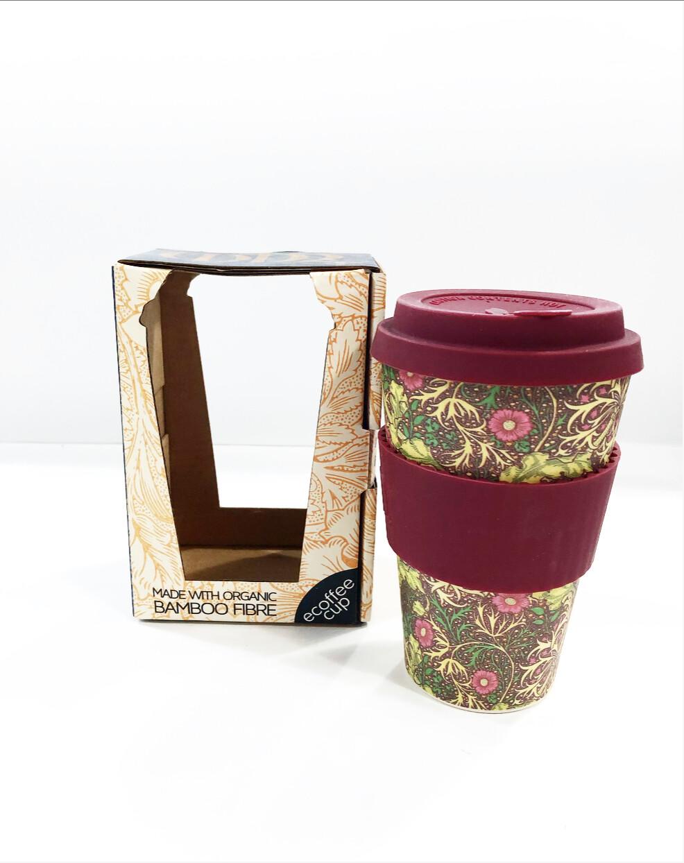 ECOFFEE -Re-usable Bamboo Cup, Ecoffee Keep Cup 14 oz - SEAWEED