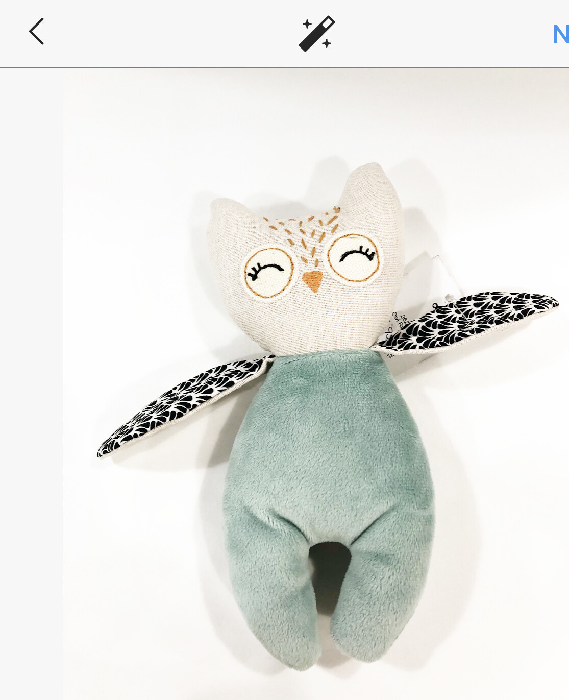OWL RATTLE TOY by PILBEAM