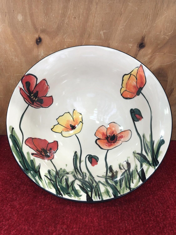 MARY - LOU PITTARD - Large Decorative Fruit Bowl  26cm x 11cm