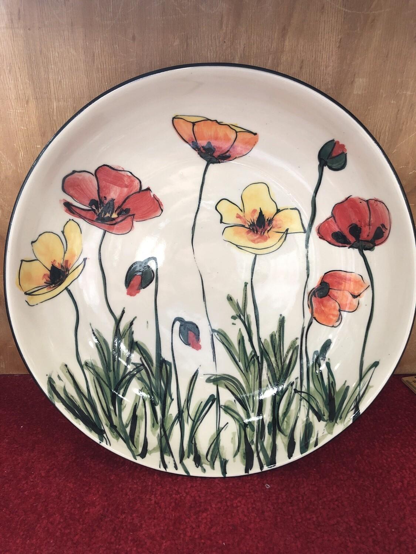 MARY - LOU PITTARD-Large  Straight-Sided Salad Bowl  33cm x 7cm