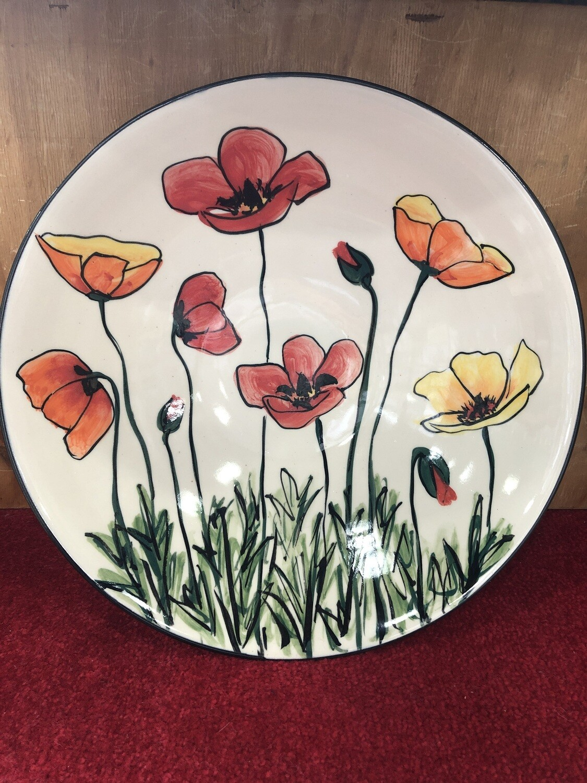 MARY - LOU PITTARD - Large Open Salad Bowl 35cm x 9cm