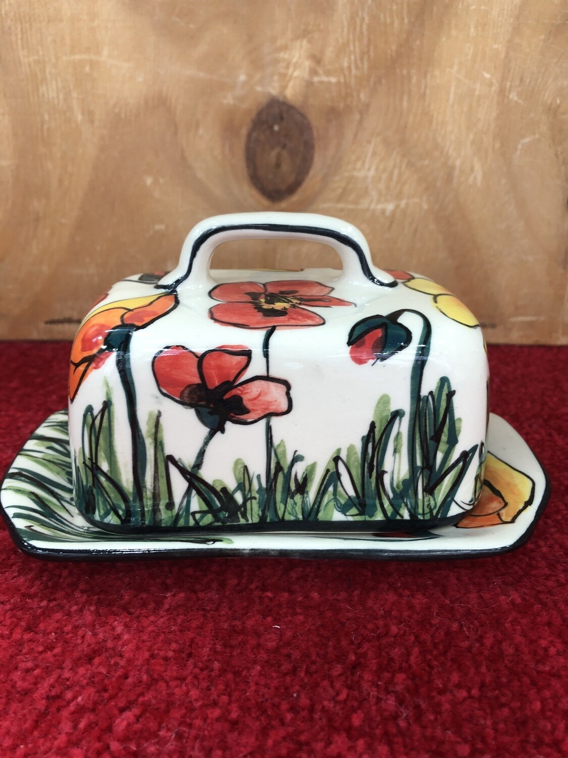 MARY - LOU PITTARD- - Butter Dish
