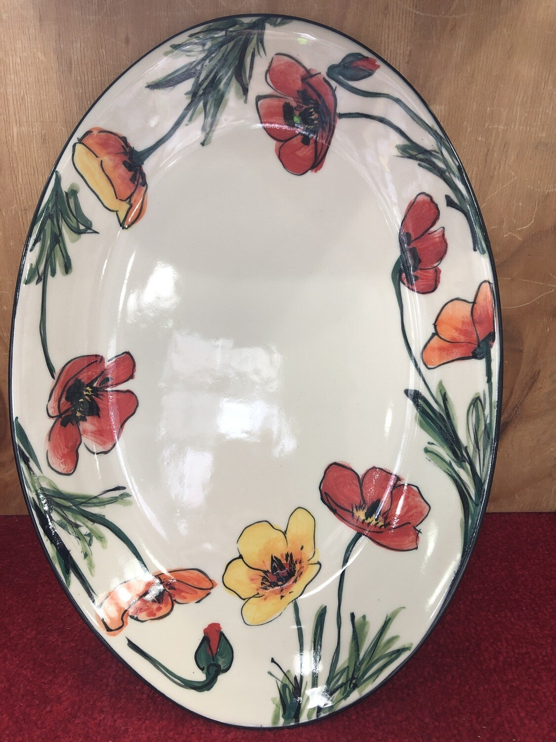 MARY - LOU PITTARD- - Large Oval Serving Dish  39cm x 27cm