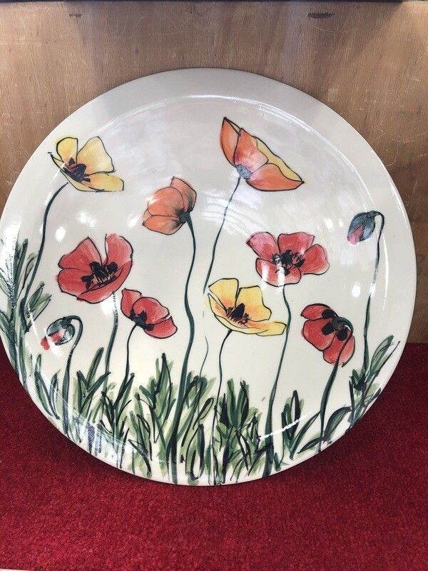 MARY - LOU PITTAR - Large Round Serving Dish  39cm x 6cm