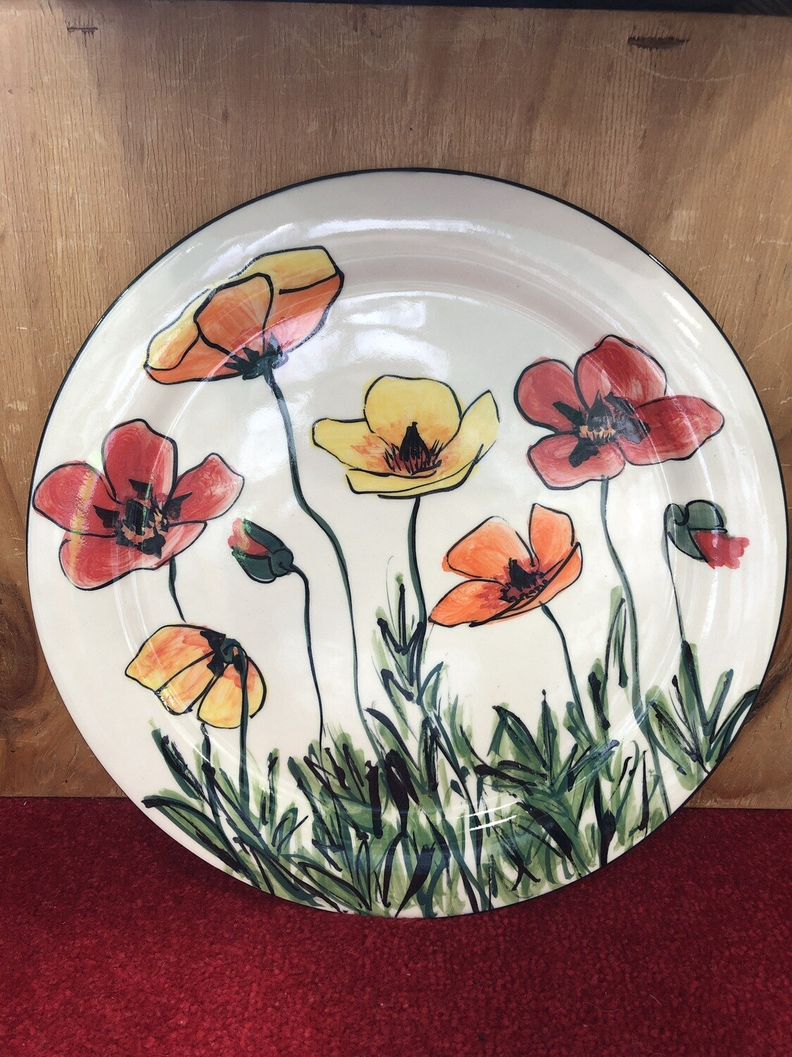 MARY - LOU PITTAR - Large Plate  33cm
