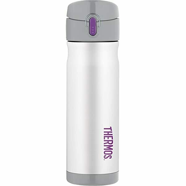 Thermos Stainless Steel 470mL Vacuum Insulated Drink Bottle White