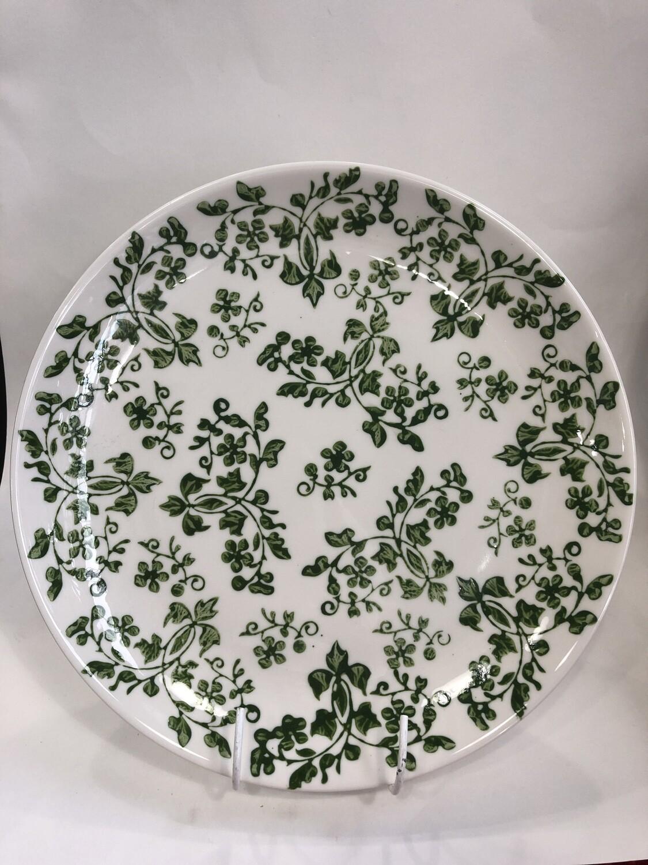 Florentine design - green PLATE 21.5 x 2cm