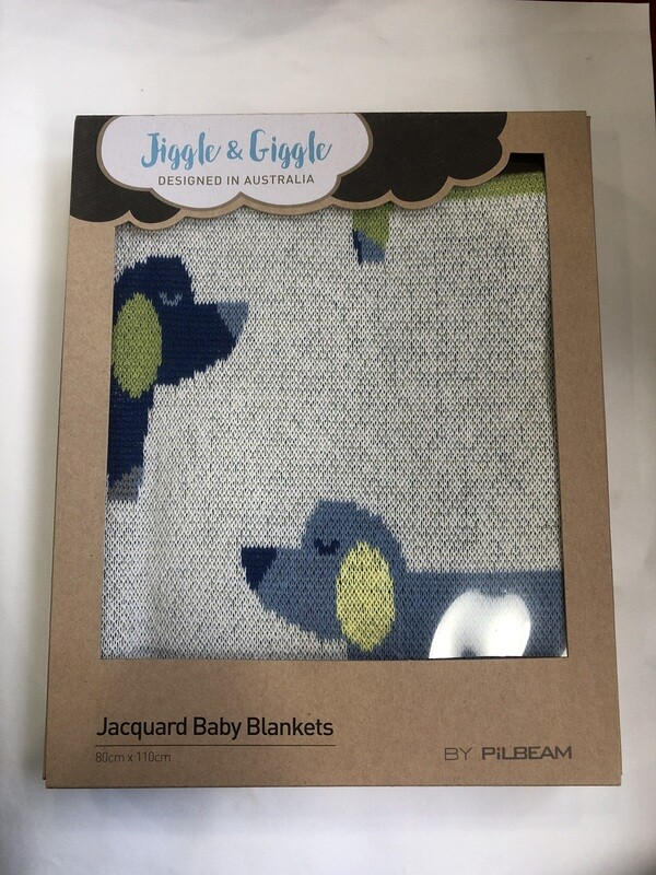 EMOTION&KIDS- JACQUARD BABY BLANKET 80cm x 110cm
