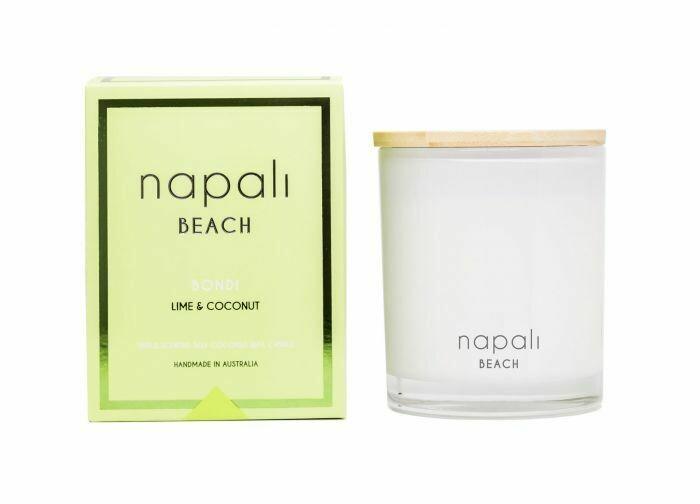NAPALI BEACH -BONDI-Soy/Coconut Wax Candle- Lime & Coconut- 160g