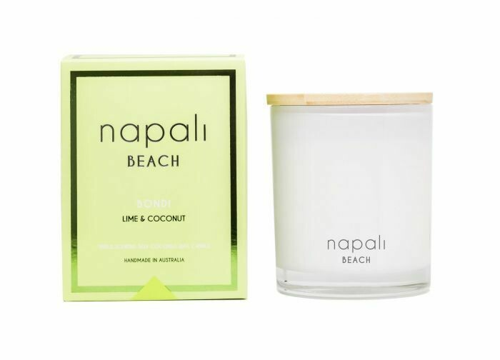 NAPALI BEACH -BONDI-Soy/Coconut Wax Candle- Lime & Coconut- 160g