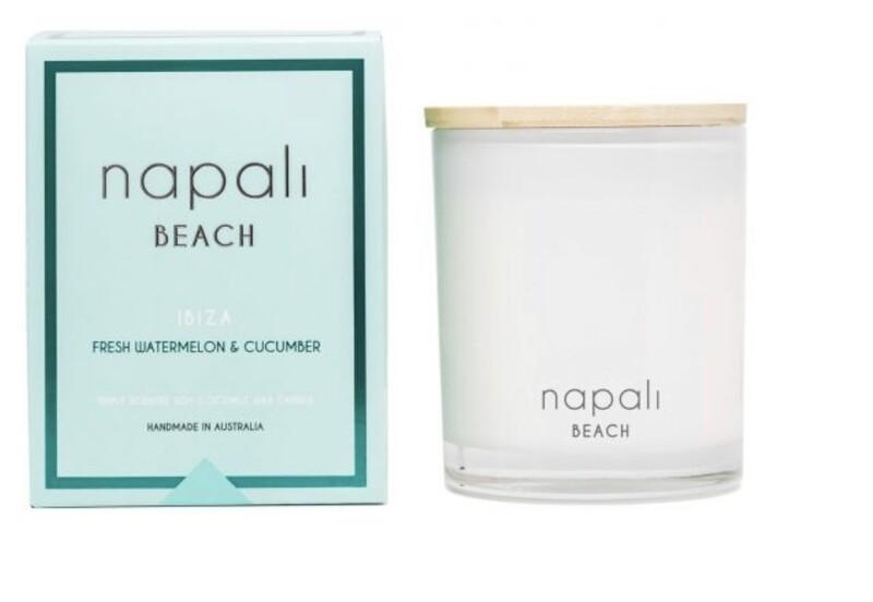 NAPALI BEACH -IBIZA-Soy/Coconut Candle- Fresh Watermelon & Cucumber - 400g