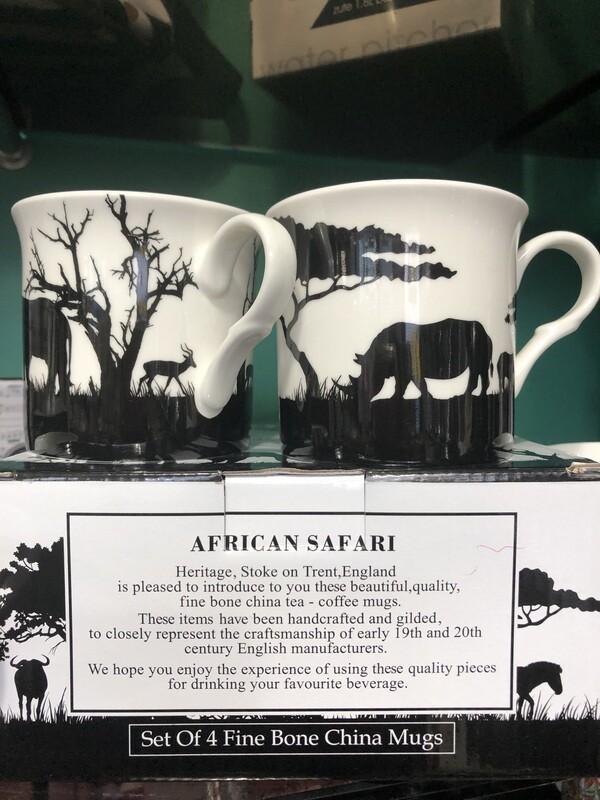 HERITAGE - Fine China African Safari Mug 240ml Set of 4
