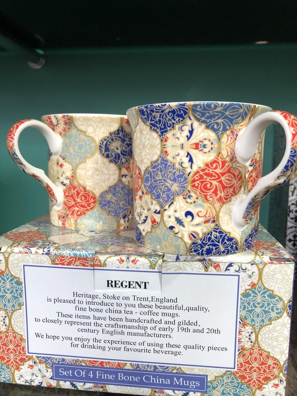 HERITAGE - Fine China Regent Mug 240ml Set Of 4