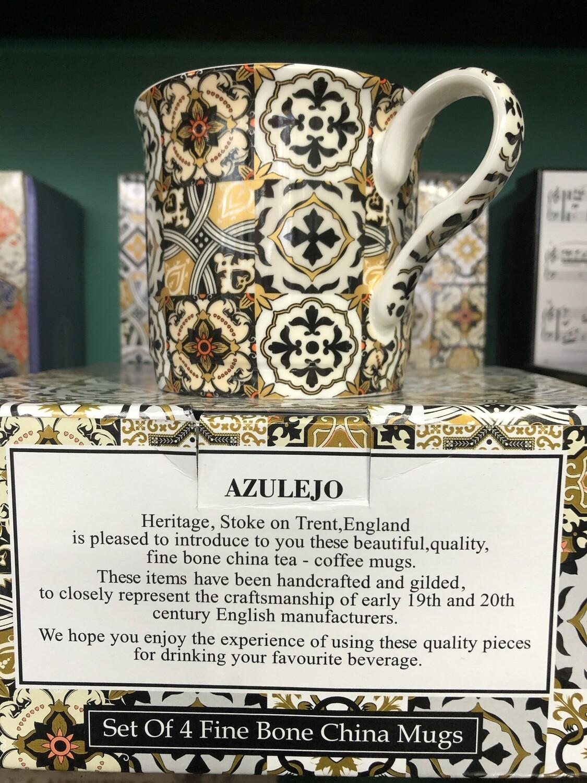 HERITAGE -  Fine China Azulejo Mug 240ml Set Of 4