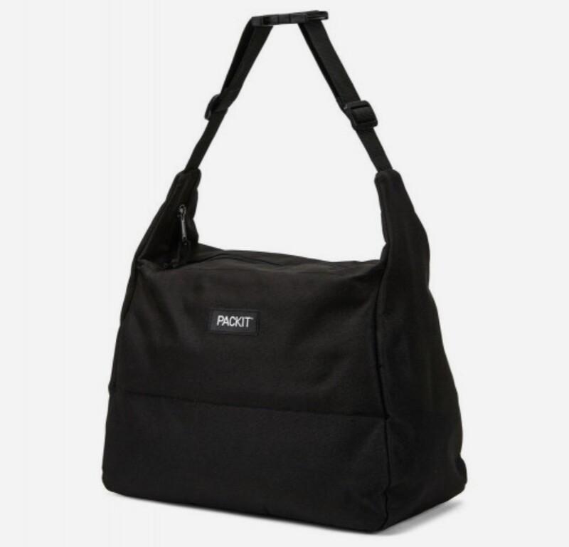 PACKIT - Freezable Hobo Lunch Bag Black