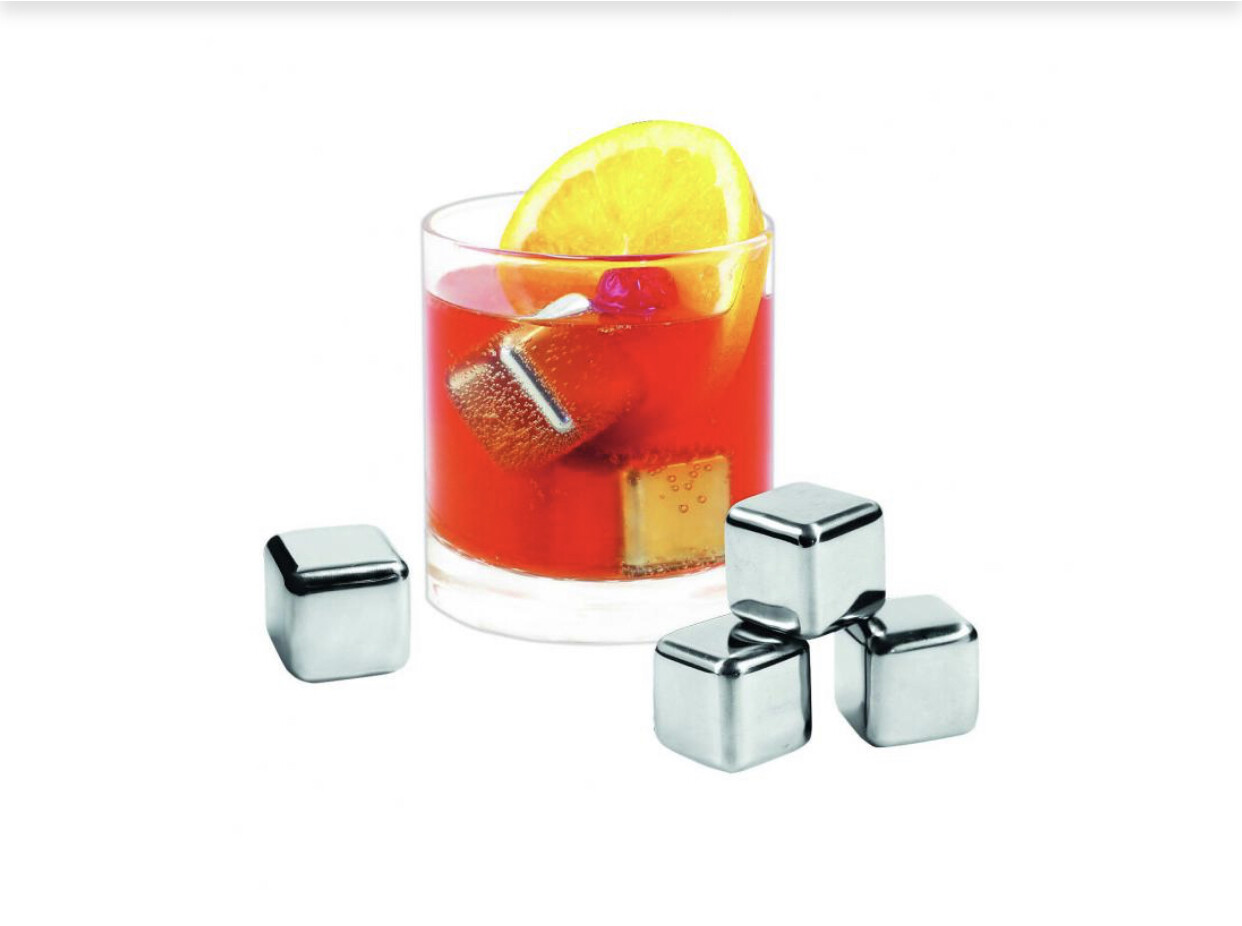 AVANTI - Stainless Steel Ice Cubes Set Of 6 In Box