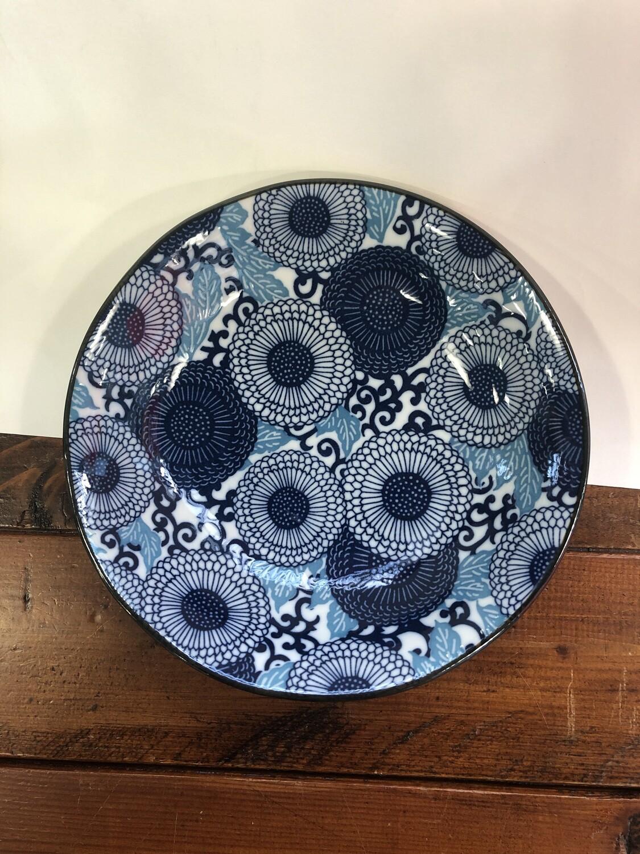 CONCEPT JAPAN-KIKU  DEEP Blue/White Open Bowl 20 x 4cm
