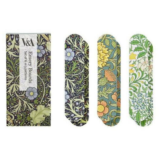 V&A Set Of 6 Printed Emery Boards-Seaweed