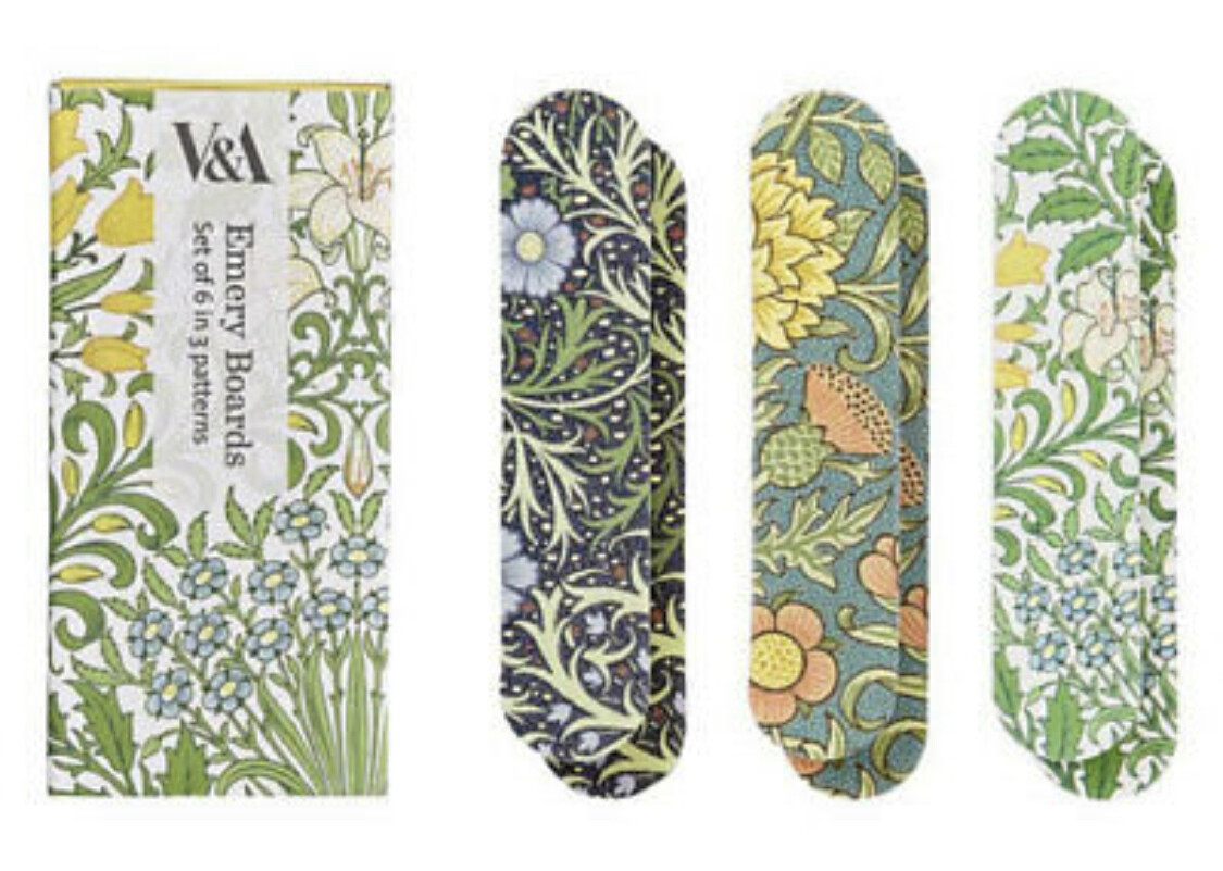 V&A Set Of 6 Printed Emery Boards- Garden