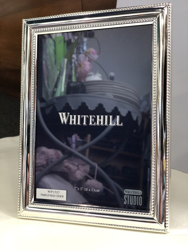WHITEHILL STUDIO-Beaded Silver  Photo Frame 18x13cm