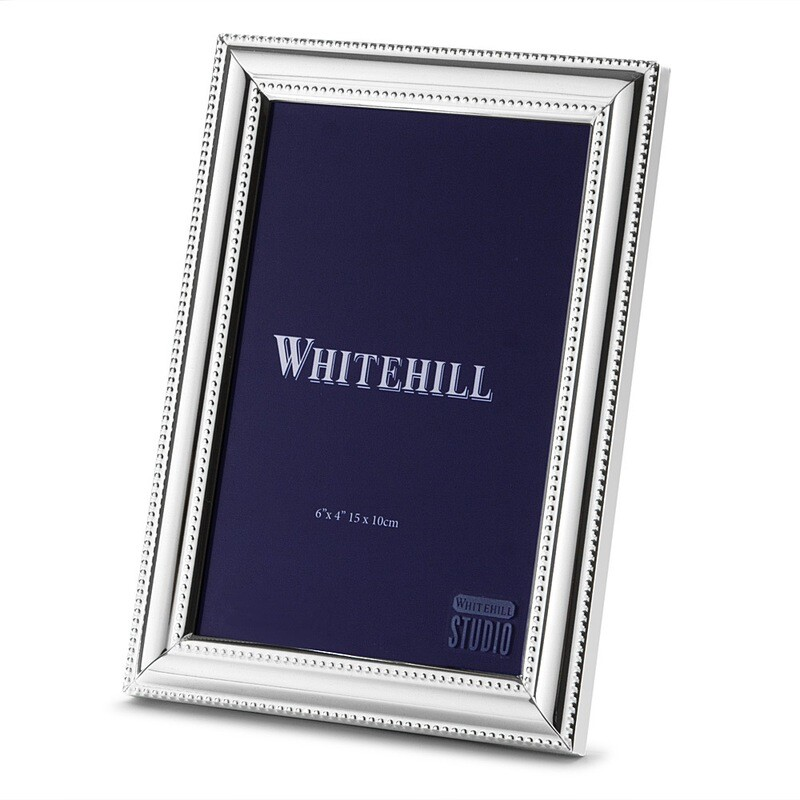 WHITEHILL STUDIO-Beaded SilverPhoto Frame 15x10cm