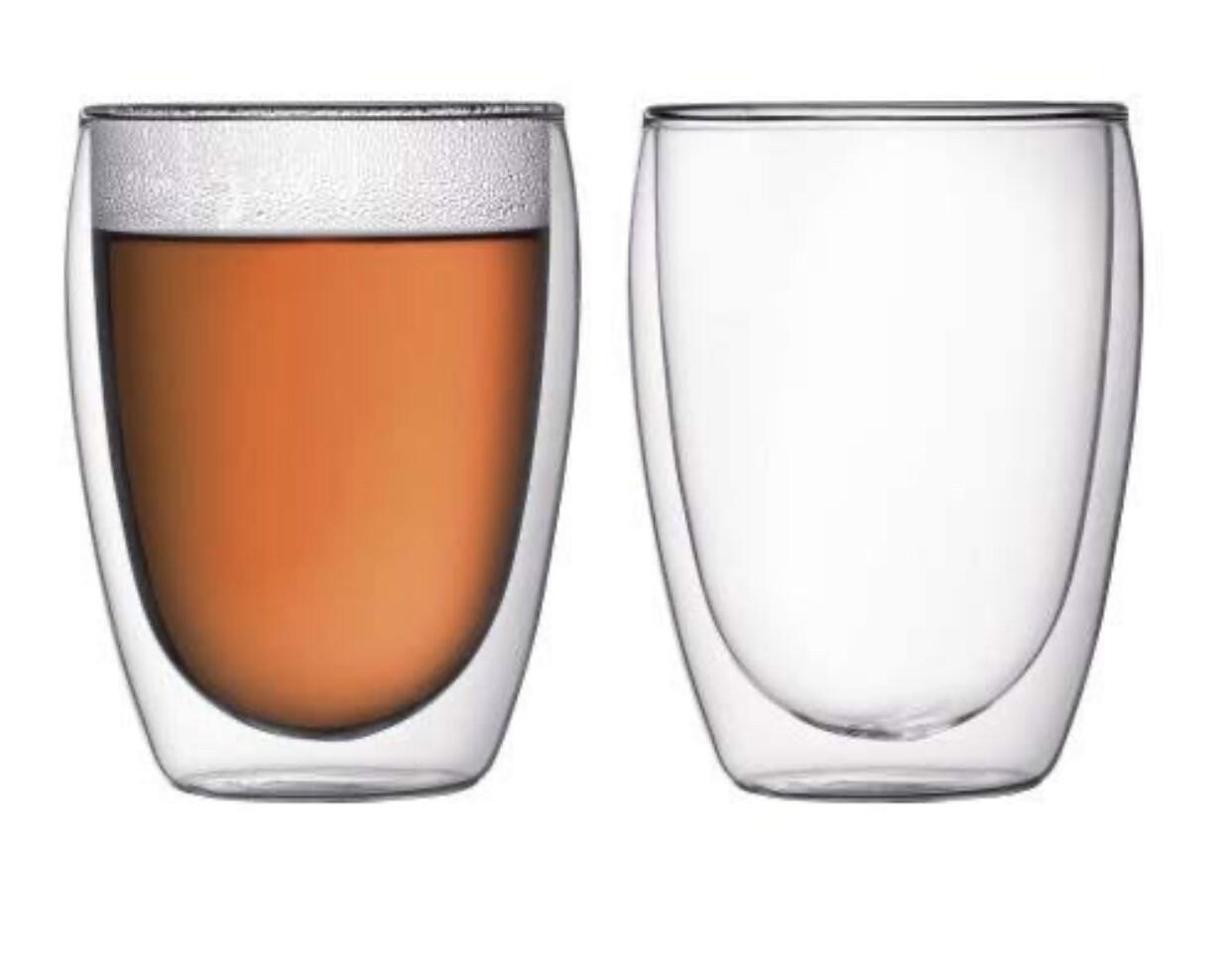 BODUM - Pavina Double Wall Thermo - Glasses (2 pcs) - 0.351L / 12oz