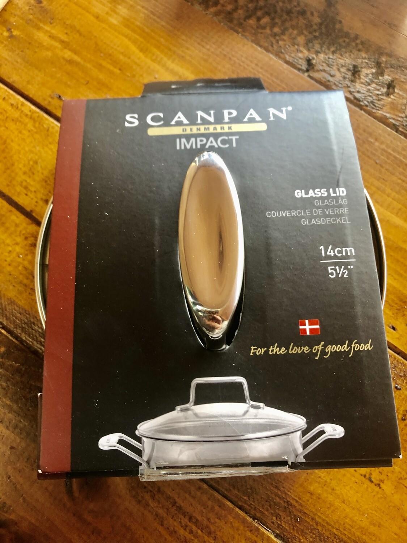 SCANPAN - Impact 14cm Glass Lid (to fit 14cm Milkpan)