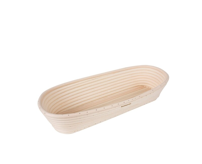 BAKEMASTER -Rectangular Bread Proving Basket Large 34x13.5cm
