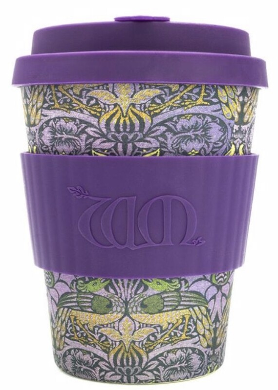 ECOFFEE -Re-usable Bamboo Cup, Ecoffee Keep Cup 12 oz-PEACOCK
