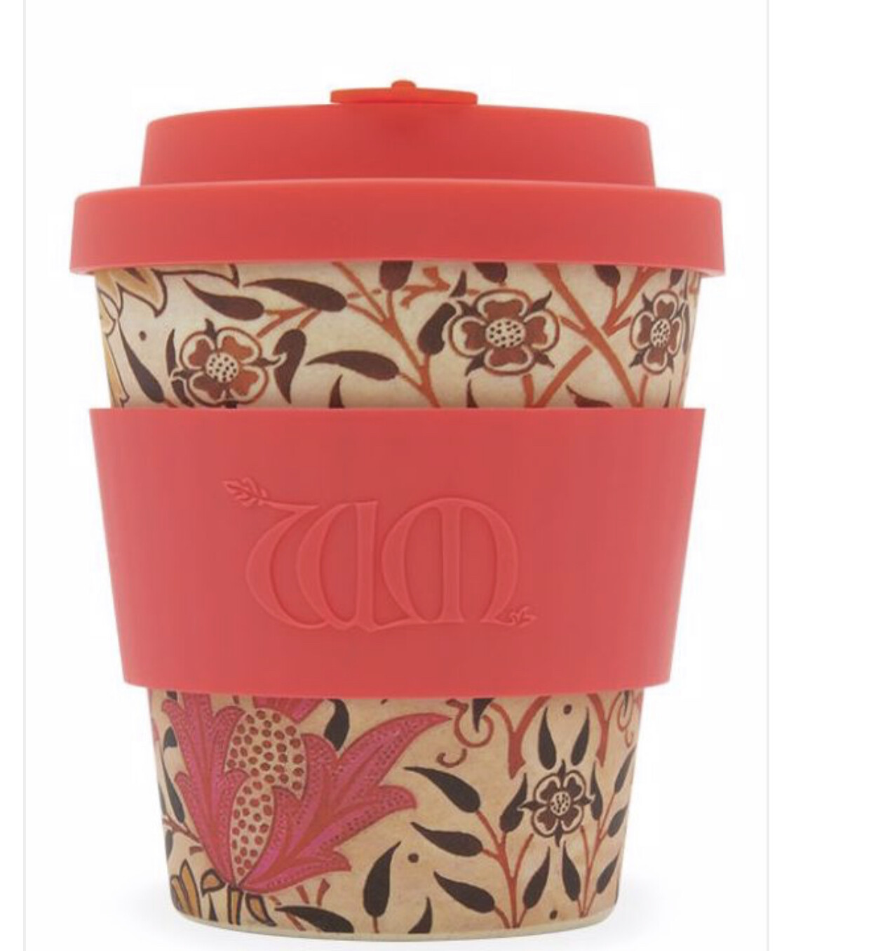 ECOFFEE -Re-usable Bamboo coffee  Cup-EARTHLY PARADISE,  8 ounces